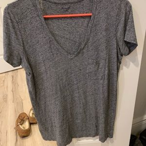 Madewell loose fitting grey v neck - XXS